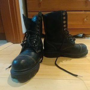 LONDON UNDERGROUND 10 eylet combatboot combat boot